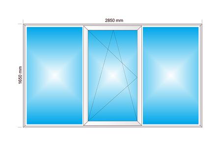 Plotis 2850 x Aukštis 1650