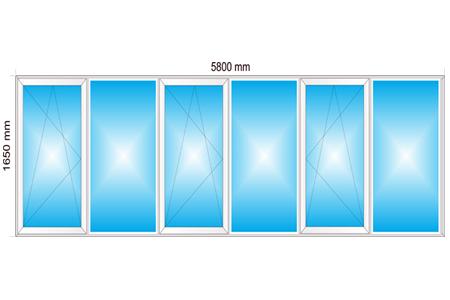 Plotis 5800 x Aukštis 1650