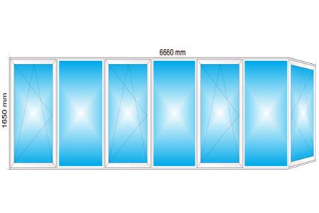 Plotis 6660 x Aukštis 1650
