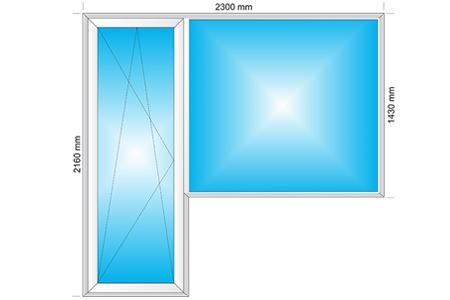 Plotis 2300 x Aukštis 2160