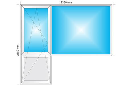 Plotis 2360 x Aukštis 2180