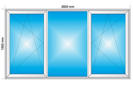 Plotis 2800 x Aukštis 1560