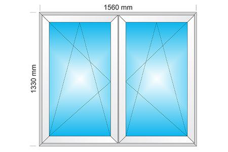 Plotis 1560 x Aukštis 1330