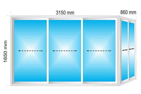 Plotis 4010 x Aukštis 1650