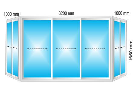 Plotis 4200 x Aukštis 1650