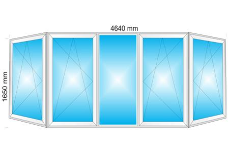 Plotis 4640 x Aukštis 1650