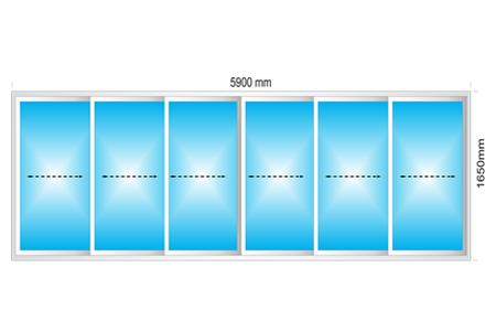 Plotis 5900 x Aukštis 1650
