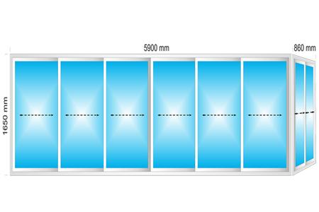 Plotis 6760 x Aukštis 1650